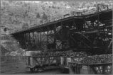 Railroad cars loaded with coal, Sugarite, New Mexico