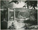 Gardens at the Gerald Cassidy house on Canyon Road, Santa Fe, New Mexico