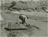 Panning for gold, Hillsboro, New Mexico