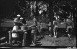 Camp chow line, Los Alamos Ranch School, Los Alamos, New Mexico