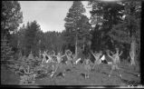 Morning exercises in camp, Los Alamos Ranch School, Los Alamos, New Mexico