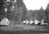 Military tents at Camp Hughey, Cloudcroft, New Mexico