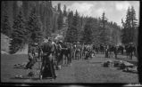 Packing up camp, Los Alamos Ranch School, Los Alamos, New Mexico