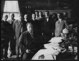 United States President William H. Taft signing New Mexico Enabling Act, Washington, D.C.