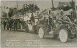 Decorated floats celebrating groundbreaking, 1915 World Exposition, San Diego, California