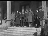 Group with Governor Octaviano A. Larrazolo (center) at the Palace Hotel on Inauguration Day, Santa...