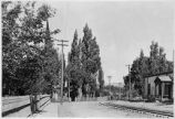 Guadalupe Street showing railroad tracks, Santa Fe, New Mexico
