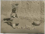 Unidentified woman making pottery, San Ildefonso Pueblo, New Mexico
