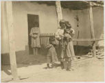 Women and children, Isleta Pueblo, New Mexico