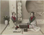 Women playing game, Japan