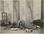 Woman sleeping, Japan