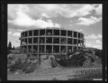 "New Mexico State Capitol ""Roundhouse"" under construction, Santa Fe, New Mexico"