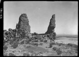 Ruins of old mission church, San Felipe Pueblo, New Mexico