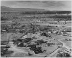 Birds-eye view of the village of Chimayo, New Mexico