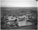 Aerial view of San Ildefonso Pueblo, New Mexico