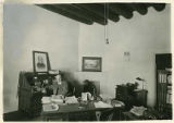 Historian Ralph E. Twtichell in his office in the Palace of the Governors, Santa Fe, New Mexico