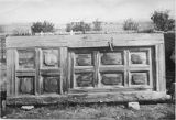Door from mission church at Santa Clara Pueblo believed to date to 1785, New Mexico