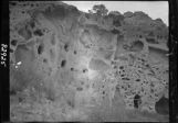 Cave dwellings at Otowi ruin, Pajarito Plateau, New Mexico
