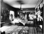 Governor Prince dining room, Palace of the Governors, Santa Fe, New Mexico