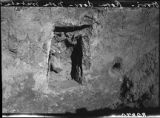 Otowi ruin excavation shwoing doorway threshold, Pajarito Plateau, New Mexico