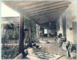 Patio of unidentified residence, California