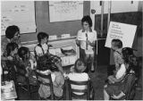 Students and teacher at Mesa School, Los Alamos, New Mexico