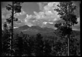 San Francisco Mountain peaks from Flagstaff, Arizona
