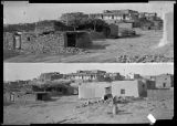 Two horizontal views of Laguna Pueblo, New Mexico