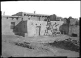 Adobe buildings at Laguna Pueblo, New Mexico