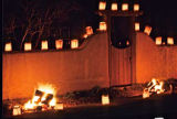 Holiday farolitos and luminaria decorations, Santa Fe, New Mexico
