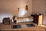 Room interior at El Rancho de las Golondrinas museum, New Mexico
