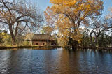Mill pond, El Rancho de las Golondrinas museum, New Mexico