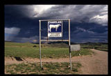 Sign at entrance to cattle ranch, Dusty, New Mexico