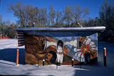 Mural on Canyon Road, Santa Fe, New Mexico