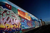 Graffiti on railroad cars, Santa Fe, New Mexico