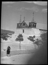 Mission church, Isleta Pueblo, New Mexico