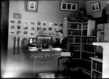 Edgar L. Hewett in office, Palace of the Governors, Santa Fe, New Mexico