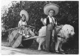 Donna Margaret Clausor and Donald Clausor, Pet Parade, Santa Fe Fiesta, New Mexico
