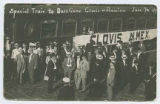Special train to ball game, Clovis versus Amarillo, Clovis, New Mexico