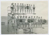 Participants in opening events for municipal pool, Clovis, New Mexico