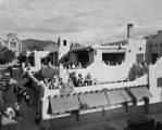 Band playing on the roof of La Fonda Hotel, Santa Fe, New Mexico