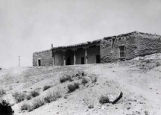Roque Lobato house before restoration, Santa Fe, New Mexico