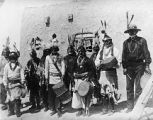 Ceremonial musicans, Santo Domingo Pueblo, New Mexico