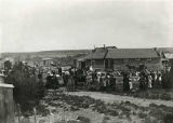 Crowd gathered for unidentified event, Santa Rosa, New Mexico