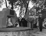 Dedication of ships bell from USS New Mexico, Santa Fe Plaza, New Mexico
