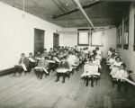 Students in study hall, Blind Institute, Alamogordo, New Mexico