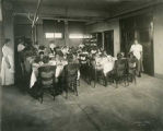 Students in dining room, Blind Institute, Alamogordo, New Mexico