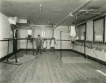 Boys exercising in gymnasium, Blind Institute, Alamogordo, New Mexico