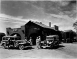 Harvey cars at depot, Lamy, New Mexico