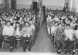 Students at house meeting, Santa Fe Indian School, New Mexico